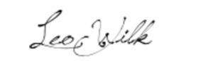 Leo Wilk Realtor signature